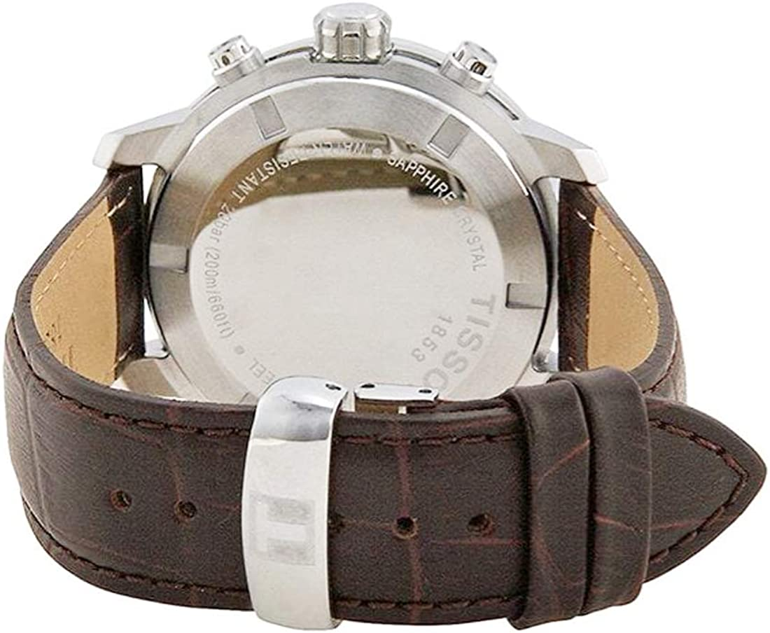 Tissot Men s T0554171601701 Analog Display Quartz Brown Watch