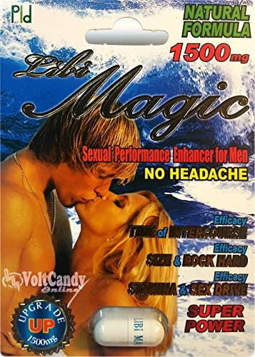 Libi Magic 1500mg Sexual Enhancer for Men Max Powerzen Libido X6