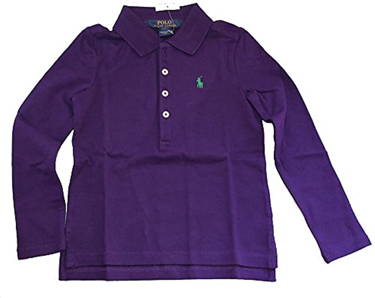 Amazon Ralph Lauren Little Girl Stretch Mesh Long Sleeve Polo