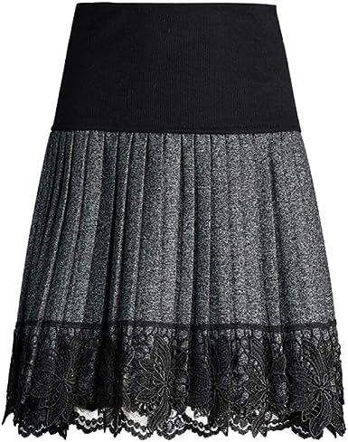Falda para Mujer De Cintura Alta con Forro De Trabajo De Oficina ...