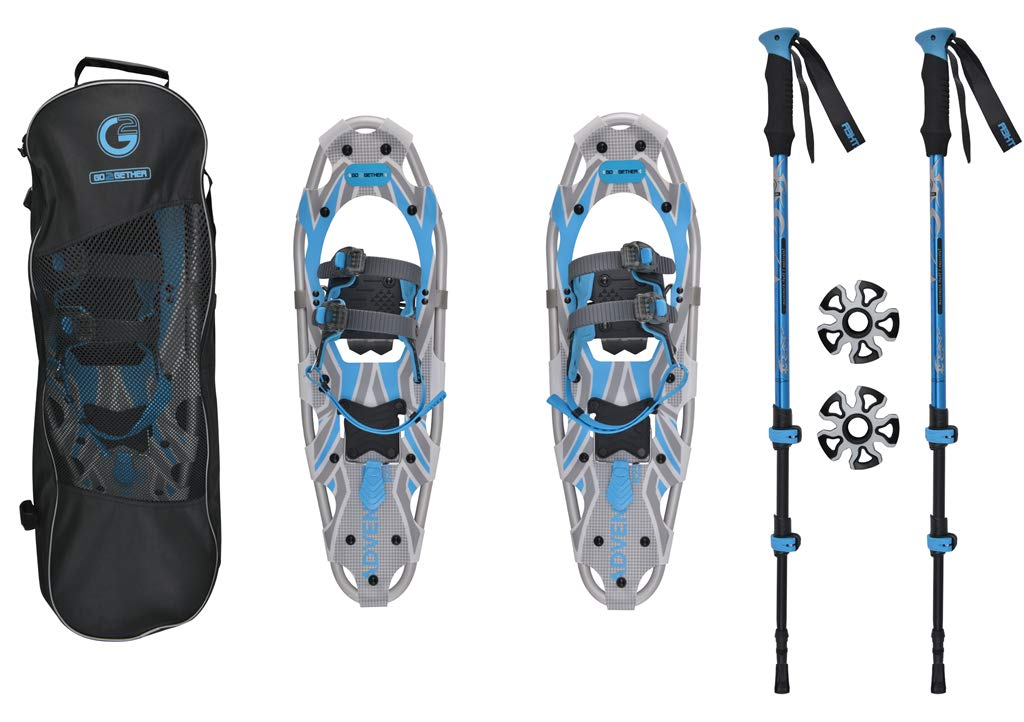 G2 GO2GETHER Snowshoes kit Adventure Adult (Azure, 30 in, Optimized Weight up to 250lb) by G2 GO2GETHER
