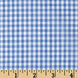 Width Width 1/8in Gingham Check Blue Fabric By The Yard