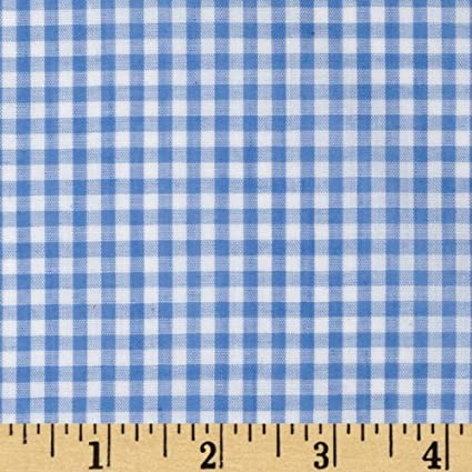 Amazon.com: Richland Textiles Width Width 1/8in Gingham Check Blue ...