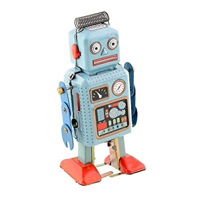 Actopus Vintage Style Windup Toys Robot Metal Tin Clockwork Spring for Novalty Xmas Gift: Toys & Games