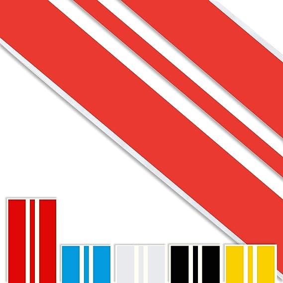 Adatech Vinyl Sticker Aufkleber Für Auto Vinyl Streifen Universal Farbe Rot 130cm V2 Auto