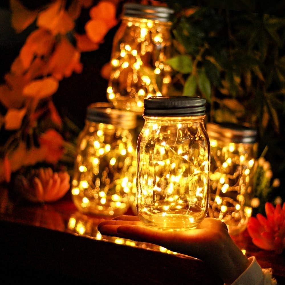 ANGMLN 6 Unidades Luz Solar Jard/ín L/ámparas Solares 30 Luces LED de Hadas Luces De Jardin Solares Impermeable IP 67 Interiores//Exteriores Decoraci/ón L/ámpara Para Navidad Jard/ín de Patio y C/ésped
