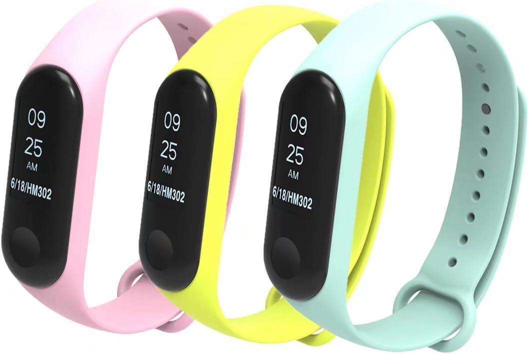 T-BLUER para Xiaomi Mi Band 3/4 Bandas, Colorido Reemplazo Correa Wristband para Xiaomi Mi Band 3/Mi Band 4 Band Accesorios Pulsera Inteligente (No Tracker)