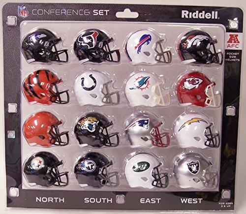 AFC Pocket Pro Speed Mini Helmet Conference Set - 16 Helmets - New Jaguars and Titans