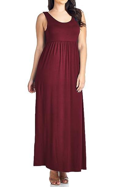 Beachcoco Women\'s Plus Size Maxi Tank Dress