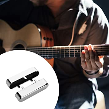 Broadroot 2pcs Mini latón cuello Pickup Covers Caso cobre metal para TL guitarra eléctrica, plata: Amazon.es: Deportes y aire libre