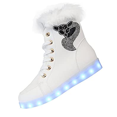 white shoes with led lights