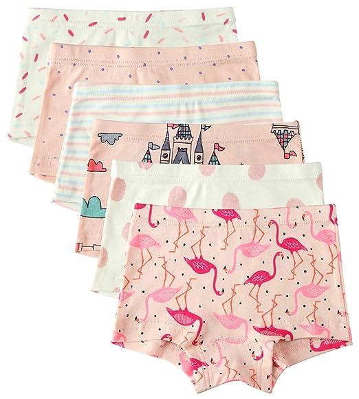 Amazon.com  6 Pack Little Girl Underwear Cotton Baby Girls Boyshort Panties  Toddler Girl s Undies  Clothing 423f12d333c
