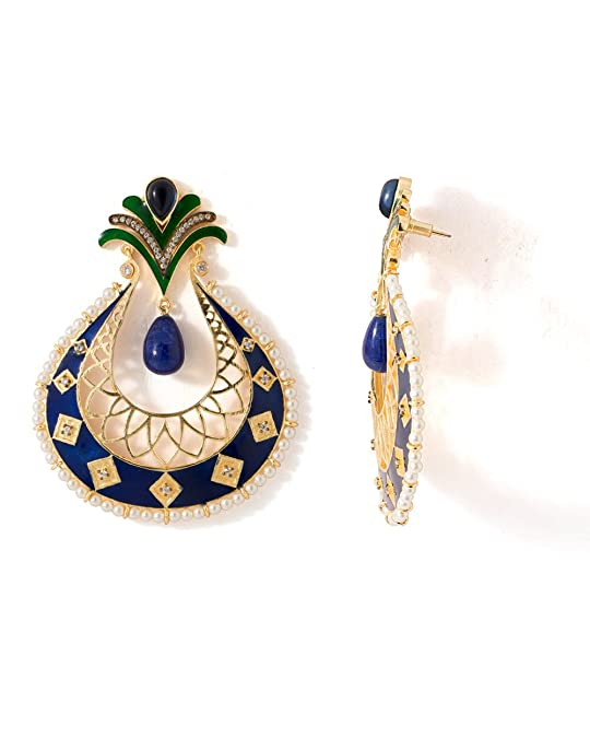 Voylla Metal Dangle & Drop Earring For Women (Multi-Colour) Earrings at amazon