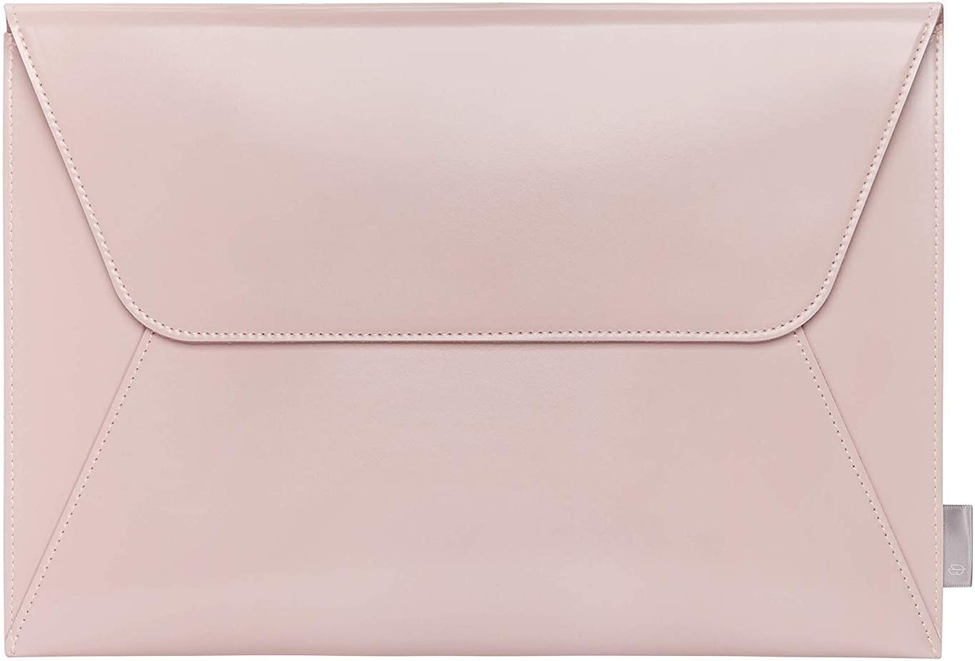 Comfyable Leather Laptop Sleeve 13-13.3 Inch for MacBook Pro & MacBook Air - PVC Leather Envelope Sleeve Computer Case for Mac, Pink