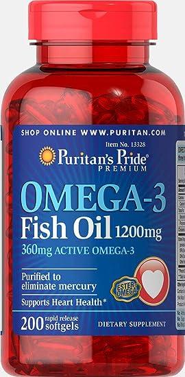 Puritans Pride Aceite Omega 3 pescado 1200 mg: Amazon.es: Salud y ...