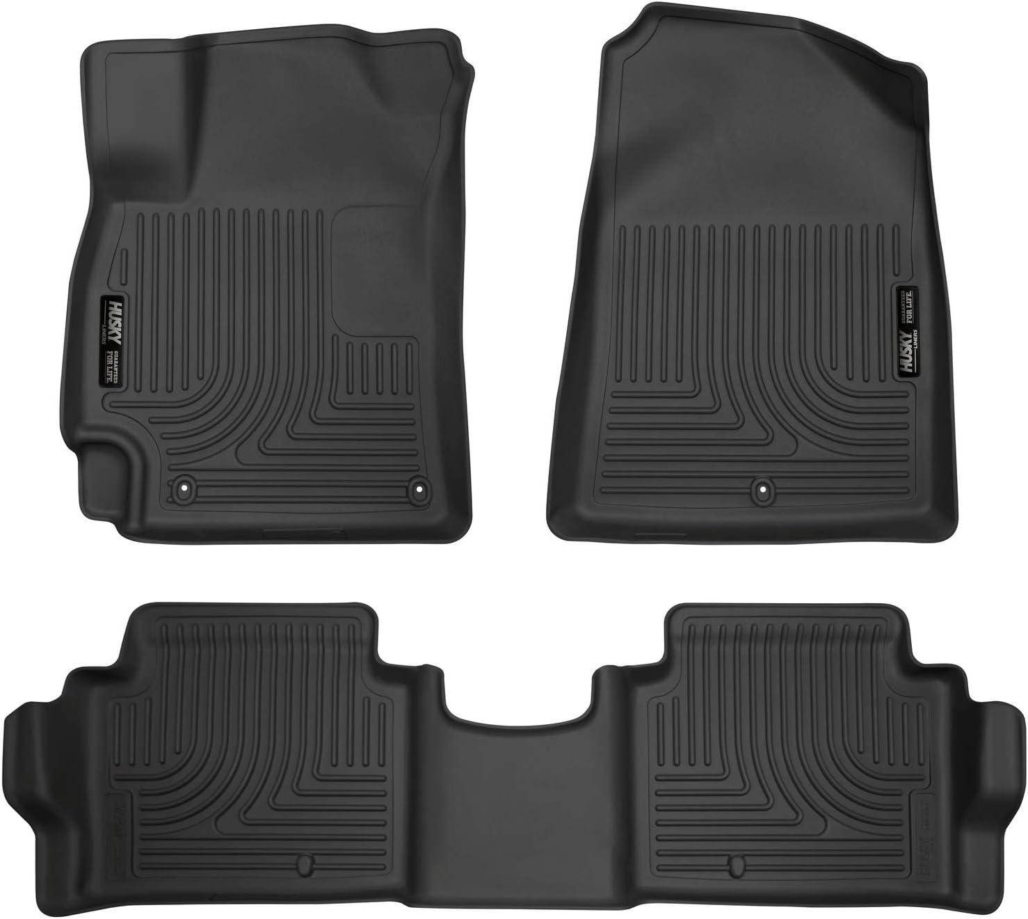 CFMAX1HI7019 Black Nylon Carpet Coverking Custom Fit Front Floor Mats for Select Hyundai Elantra Models