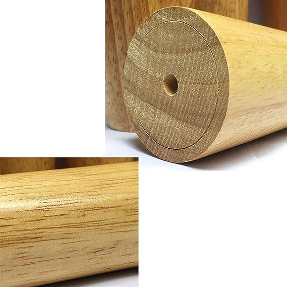 Amazon.com: 4 patas de madera para muebles, patas de apoyo ...