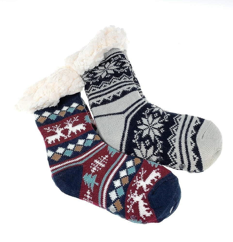 Kuschelsocken Hüttensocken Damen Wintersocken Haussocken Teddyfutter Warm Socken