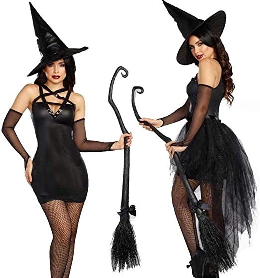 KAIDILA Halloween Traje clásico Negro Bruja Papel Vestido de ...