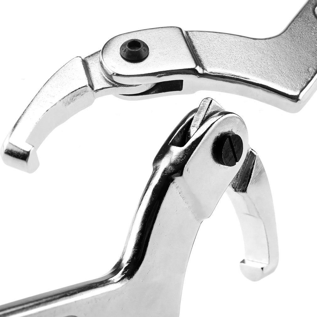 51-121MM 2-4.3//4 Chrome Vanadium C Spanner Tool Adjustable Hook Wrench SING F LTD