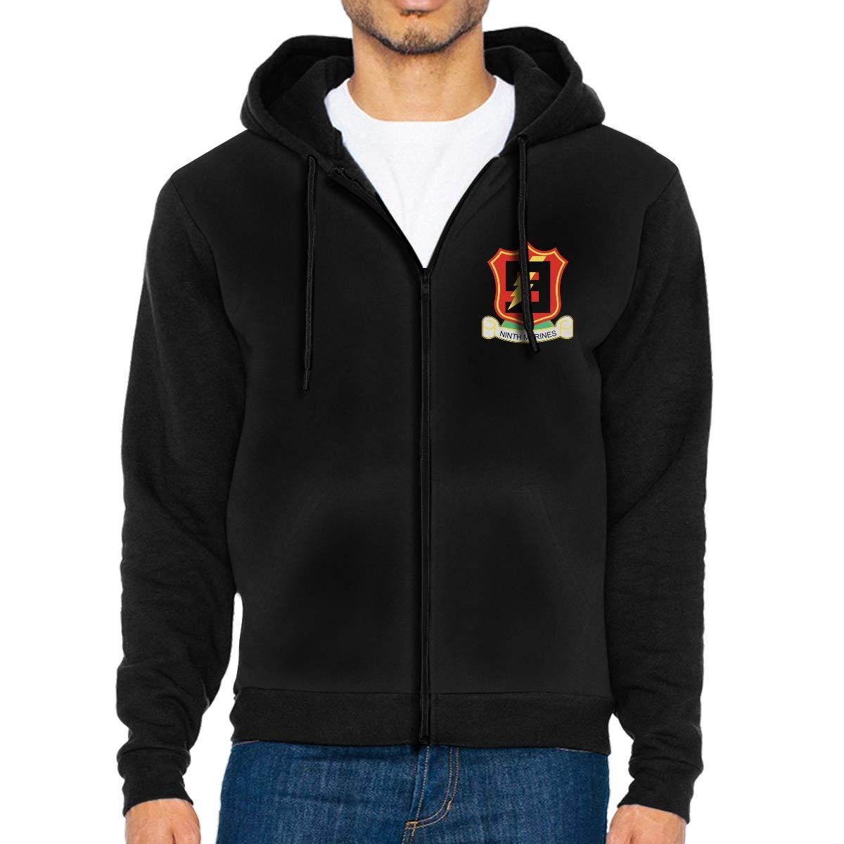 9th Marine Regiment Mens Full-Zip Up Hoodie Jacket Pullover Sweatshirt