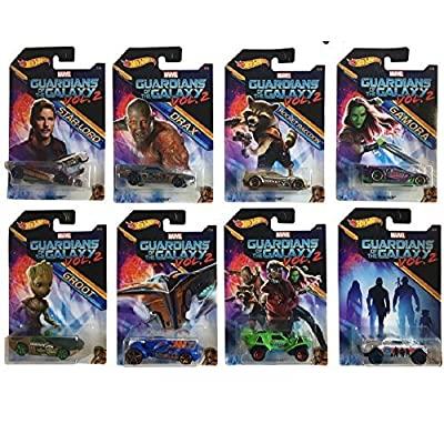 Hot Wheels 2020 Guardians of the Galaxy Vol. 2 Bundle Set of 8 Die-Cast Vehicles: Toys & Games