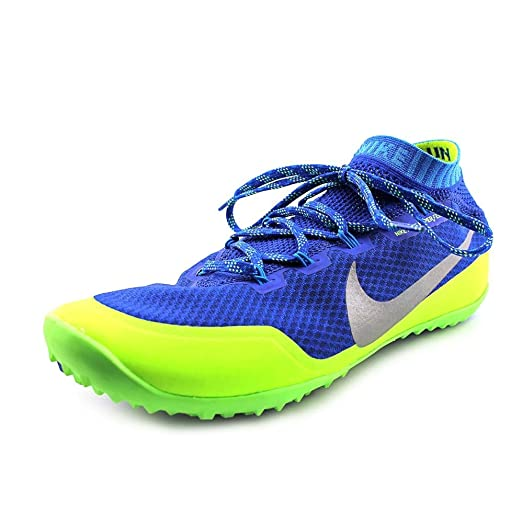 Nike Men's Free Hyperfeel Run Trail Game Royal/Reflective Silver/Flash Lime  Ankle-