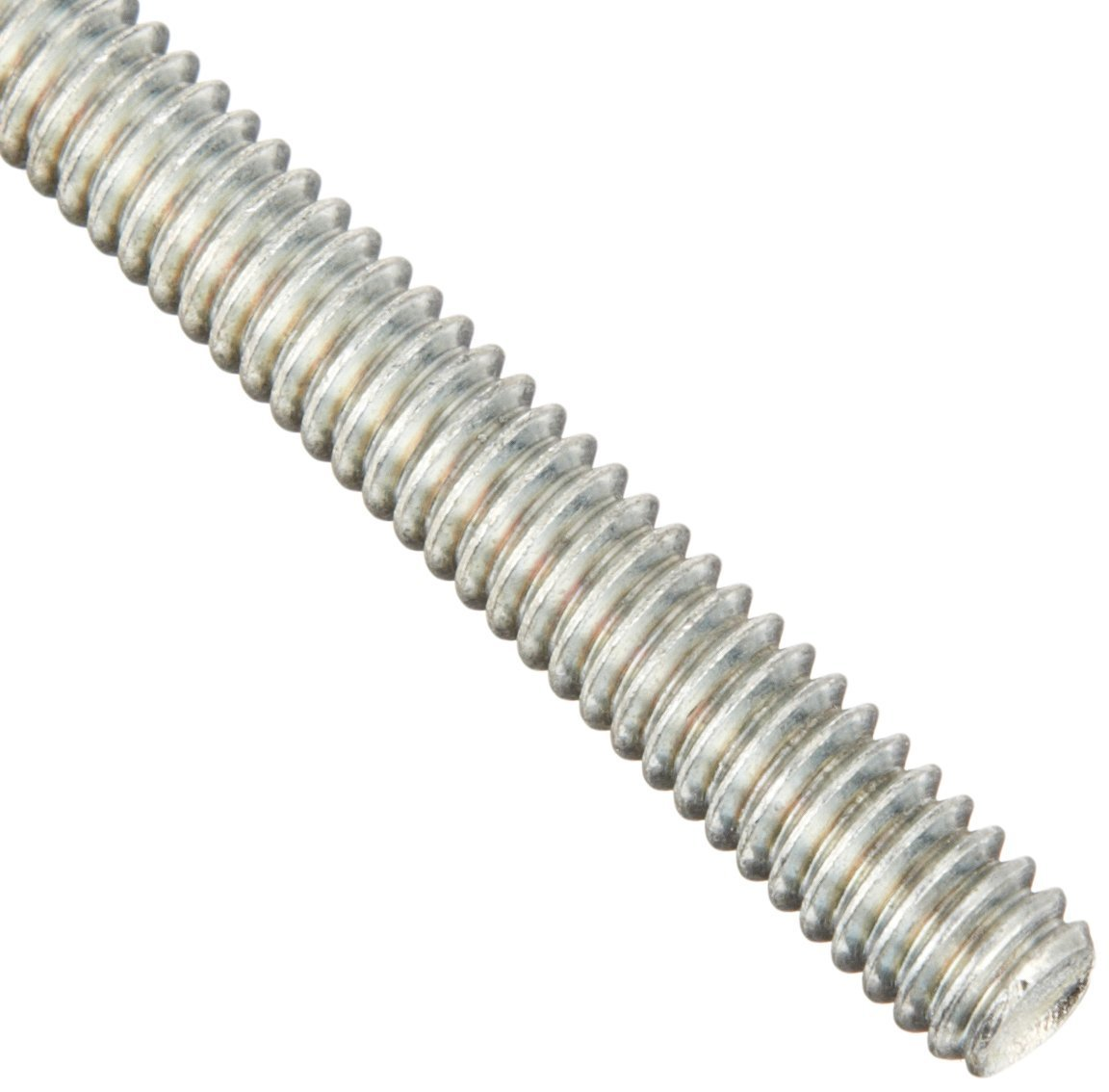 Low-Strength Zinc-Plated Steel Threaded Rod, 1''-8 Thread Size, 3 Feet Long