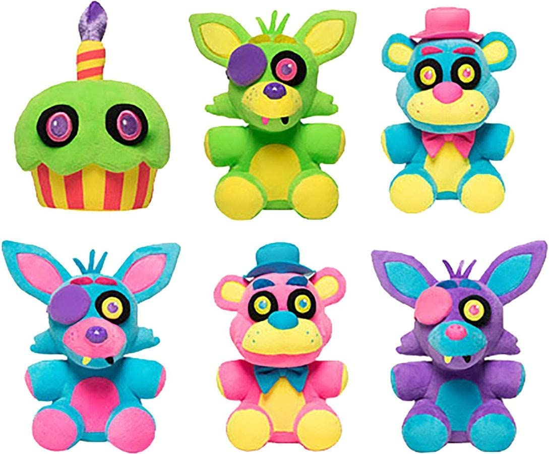 Koala Stuffed Animals Mini, Amazon Com Five Nights At Freddy Black Light Plush Set Toys Games