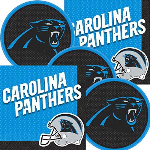 Carolina Panthers NFL Football Team Logo Plates And Napkins Serves 16