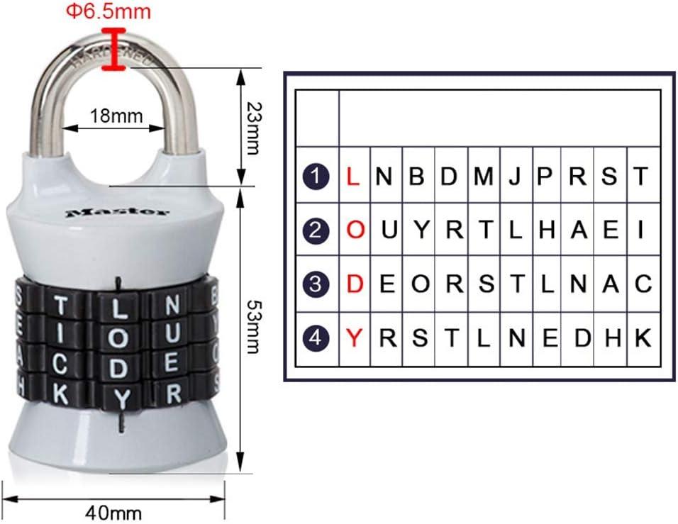 Vosarea Zahlenkombination Kennwortsperre Zink-Legierung Sicherheitsschloss Koffer Gep/äck codiert Schloss Schrank Schrank Vorh/ängeschloss