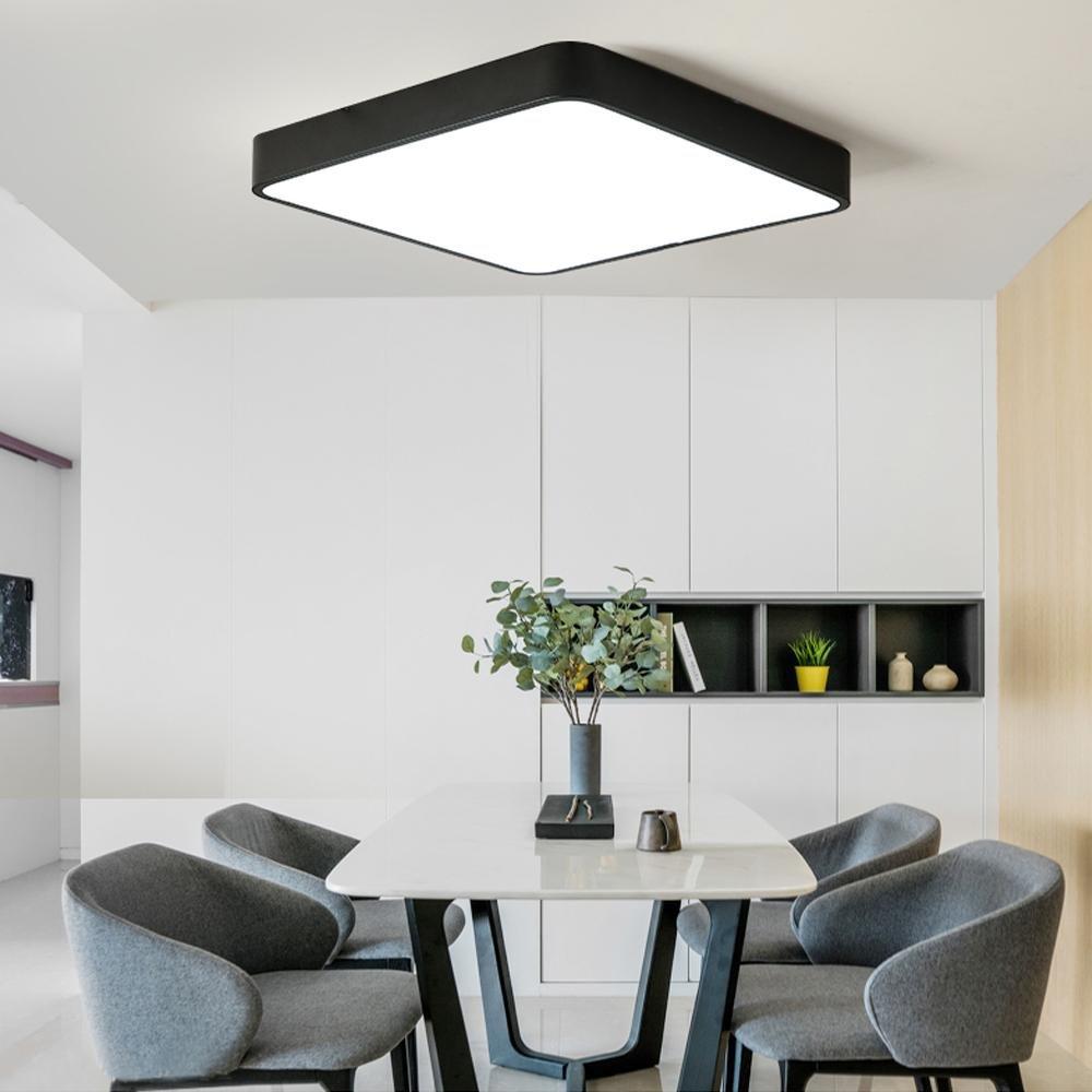 Moderne LED Deckenleuchte Eckig Design Ultra dünn Acryl Lampenschirm ...