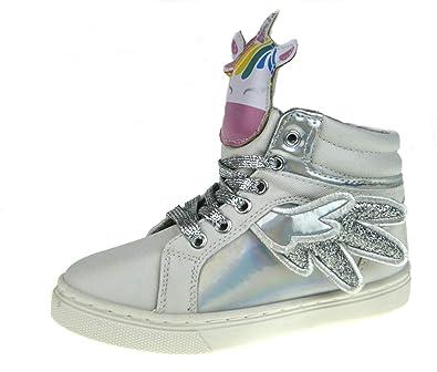 e8f899494e4eae Girls 3D Unicorn Hi Top Trainers  Amazon.co.uk  Shoes   Bags