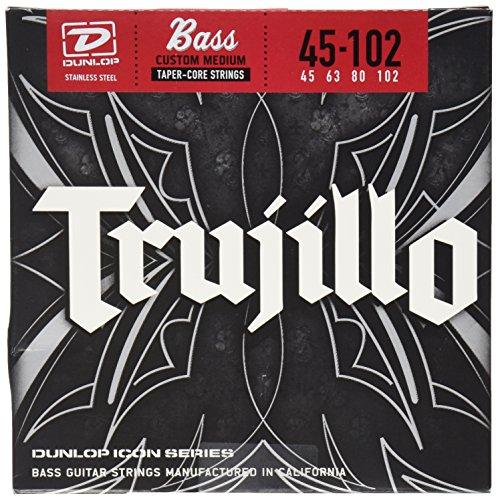 Dunlop RTT45102T Robert Trujillo Icon Series Signature Bass Strings w/Tapered Core, Medium, .045-.102, 4 Strings/Set