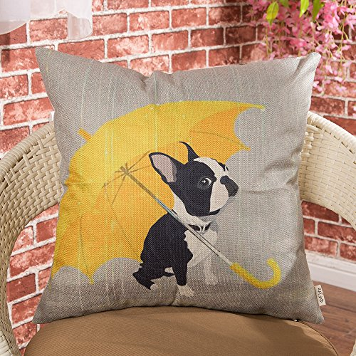 Fjfz Boston Terrier With Yellow Umbrella Dog Lover Gift