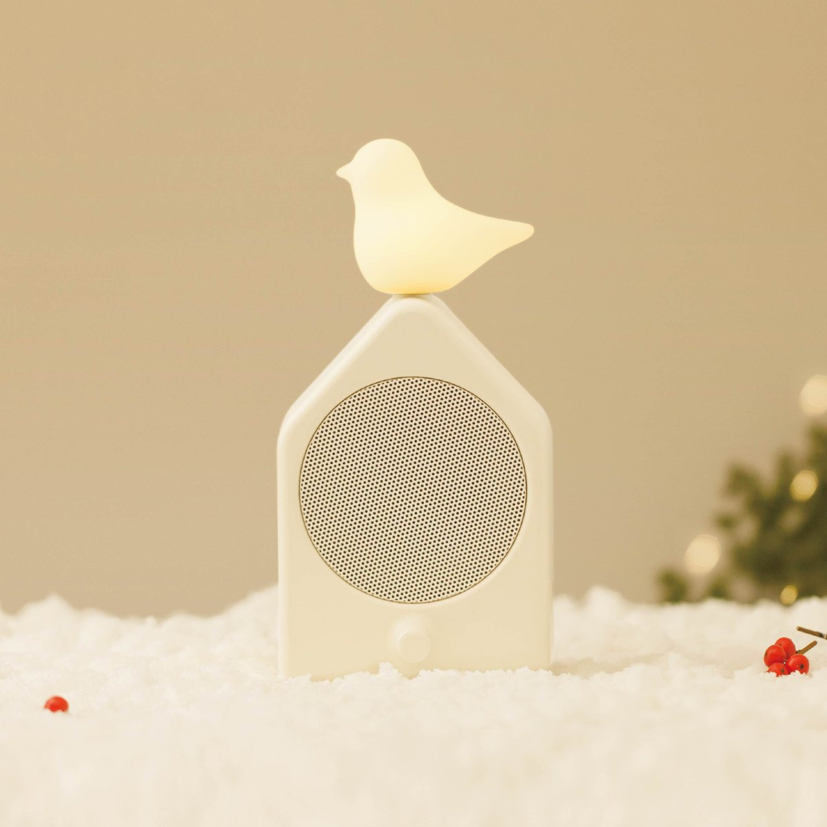 Emoi Bluetooth Speakers with Lights, Multifunctional Bluetooth Audio,Beside Lamp with Nature Design