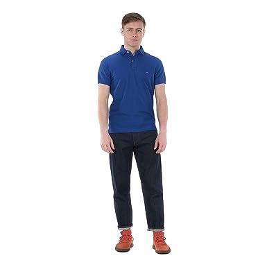 Tommy Hilfiger Polo in Cotone Piquè MW0MW09741 Blue Size:L: Amazon ...