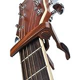 Capodastre de Guitare NIAYEYA 6 cordes guitare acoustique et électrique Capodastre guitare folk Changement rapide de guitare Capo pour les amateurs de musique, couleur palissandre