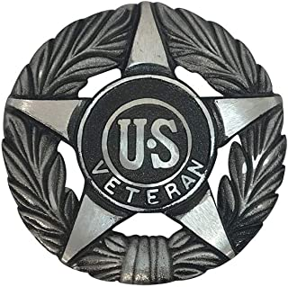 product image for Grave Marker Universal Service, US Veteran Plaque, Aluminum with Black Highlights Cemetery Memorial Flag Holder, Made in USA