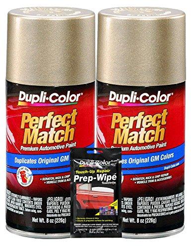 Dupli-Color Light Driftwood Metallic Exact-Match Automotive Paint for GM Vehicles - 8 oz, Bundles with Prep Wipe (3 Items)