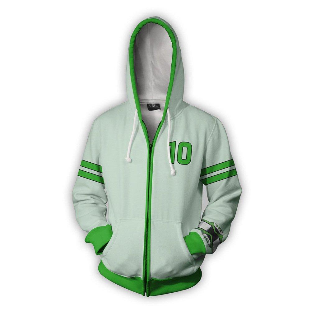 VOSTE Ben Jacket Hoodie 3D Printed Hooded Zipper Sweatshirt (Small, Color 1)