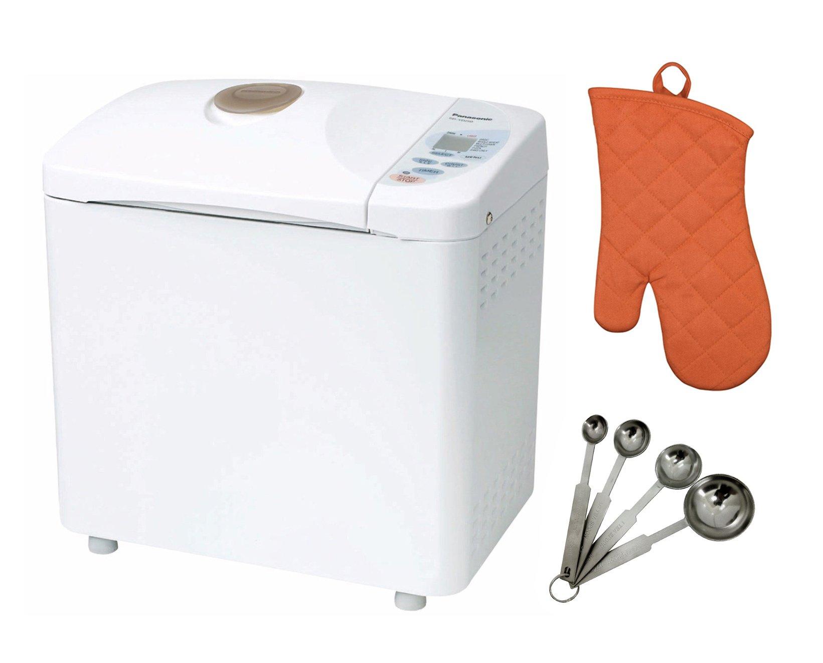 Panasonic Automatic Bread Maker w/ Measuring Spoon Set & Oven Mitt