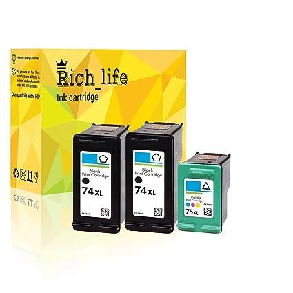 10 Hi-Yield CB336WN BLK Ink Print Cartridge for HP 74XL for OfficeJet J6488
