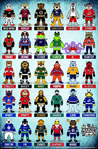 Nhl Hockey Wall - Trends International NHL-Mascots Wall Poster, 22.375