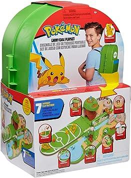 Pokémon Juego de Estuche de Transporte, Contiene una Figura de Pikachu de 5 cm y un
