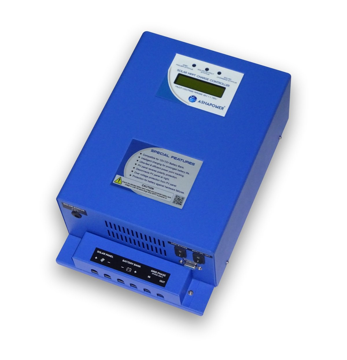 Ashapower Solar Mppt Charge Controller 24 36 48 60 72 V 40a Auto Circuit Diagram On Tracker Setting Apollo 40 Blue Garden Outdoors