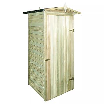 Shengfeng Caseta para Leña de de Pino Impermeabilizada 100 x 100 x 210 cm. Casa