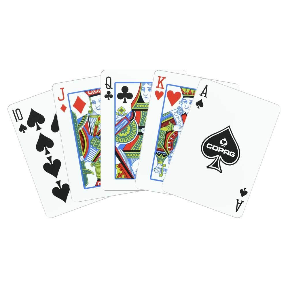 Copag Poker Size Regular Index 1546 Playing Cards 2 decks (Black Gold Setup) by Copag
