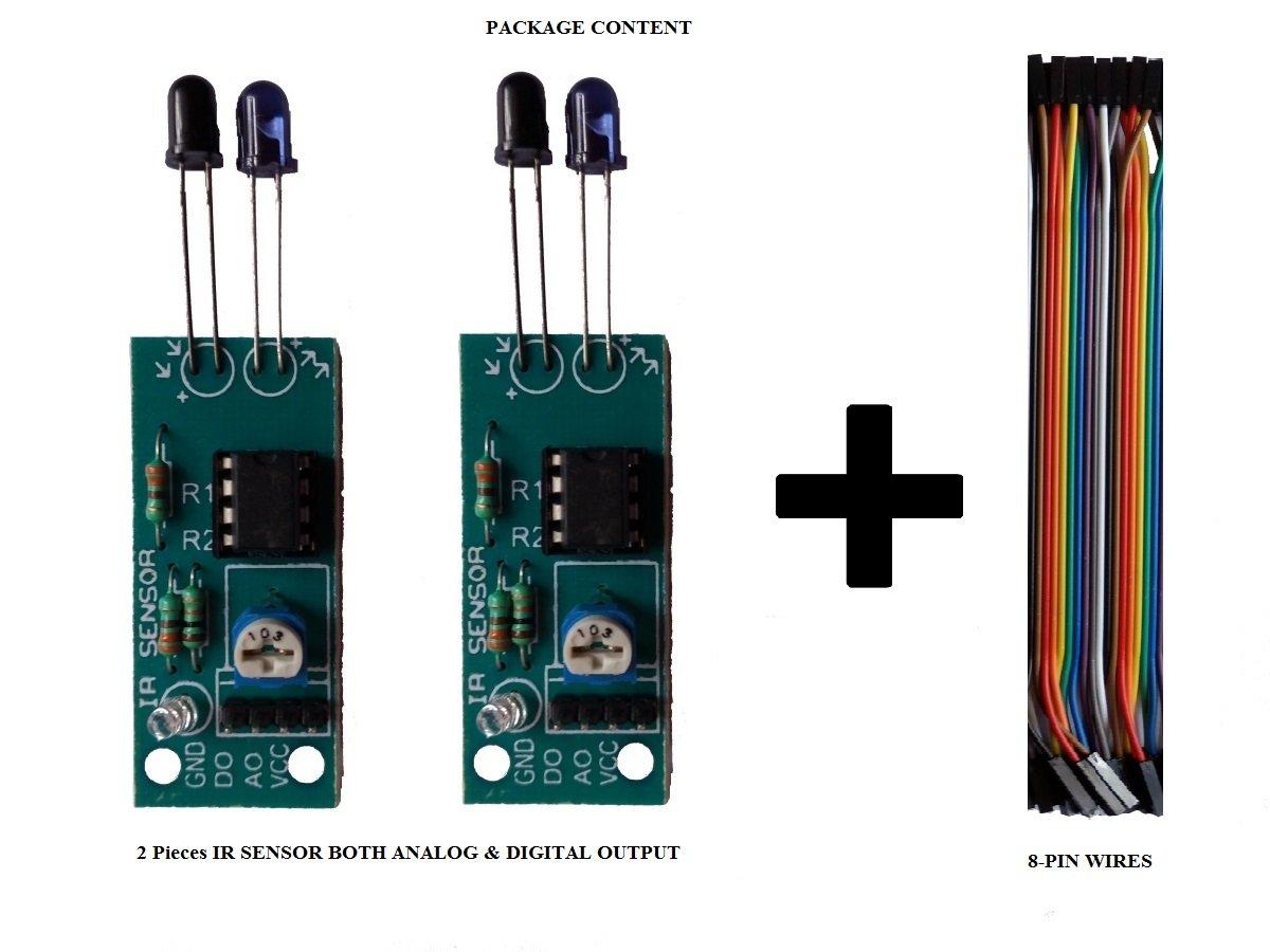 Embeddinators Ir Sensor Analog Digital Outputs Module2 Pieces 8051 Microcontroller Ultrasonic Rangefinder Using Circuit Diagram Amazon In