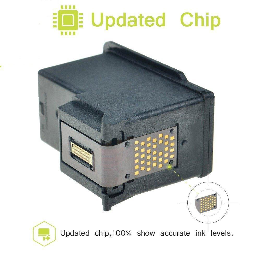 RRYQL Remanufacturado HP 302XL (F6U67AE F6U68AE) muestran el nivel ...